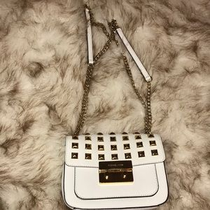 White studded bag